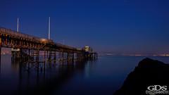 DSC03676 (Guy Di Stefano) Tags: mumbles water sky night ocean beach fog lights pier mumblespier