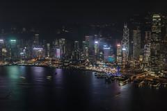 Hongkong at night (MyMUCPics) Tags: hongkong night nightshot nacht nachtaufnahme panorama asien asia 2016 dezember december travel reise architektur architecture skyline cityscapes longexposure holiday