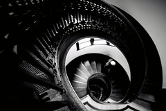 The man down the stairs (勇 YoungAdventure) Tags: san francisco サンフランシスコ 샌프란 시스코 舊金山 circular staircase mechanics institute library