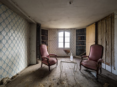 Abandoned Castle (NأT) Tags: urbex urban urbain urbaine urbanexploration explorationurbaine exploration em1 explore exploring empty alone nobody closed olympus omd zuiko 714mm 714 wideangle uga wide angle lost perdu perdue light chateau château castle castello past passé ancien ancienne old oublié oubliée oubli forgotten forbidden chair chairs abandoned abandon abandonné abandonnée abbandonato abbandonata architecture intérieur interior interieur inside decay decaying derelict dust rust ruins