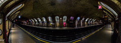 Baker Street Pano (selvagedavid38) Tags: baker street london underground railway metropolitan tube passengers arches tracks tunnel tfl trains platform station brick transport travel subway metro panorama canon70d eos sigma