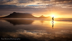 Step into the Sun (Panorama Paul) Tags: paulbruinsphotography wwwpaulbruinscoza southafrica westerncape capetown tablemountain milnertonbeach clouds beach reflections sunset nikond800 nikkorlenses nikfilters