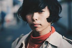 (Daifuku Sensei) Tags: stranger strangers candid portrait kichijoji tokyo japan male hair stylish trendy earring overcoat peacoat 70s hip nikond700 nikon85mmf18g banderaca