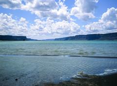 Banks Lake (deanfuller2) Tags: film electriccity washington unitedstates us velvia50 banks lake steamboatrock ga645pro fujifilm analog landscape