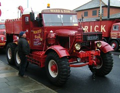 Vintage HGV - Scammel Pioneer 6 x 4, built for the a British Army as an Artillery Tractor. (rossendale2016) Tags: massive vehicle haulage heavy strong large heavytons red 6x4 for built military army british artillery tractor scammed pot coffee hgv vintage