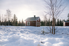 Lonely cabin (knipslog.de) Tags: arcticfalls arjeplog schnee schweden storforsen waterfall panorama polarlights snow winter ice reindeer caribou