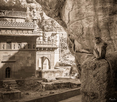 2006 India,  Badami 0120.jpg (Mandir Prem) Tags: indians ancient wildlife asia backpakers india exotic travel bw outdoor temple nature places badami