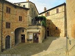 Montichiello, Il Borgo, The ancient village (michele masiero) Tags: italia eu siena toscana valdorcia vicoli montichiello fotosketcher ilborgodimontichiello