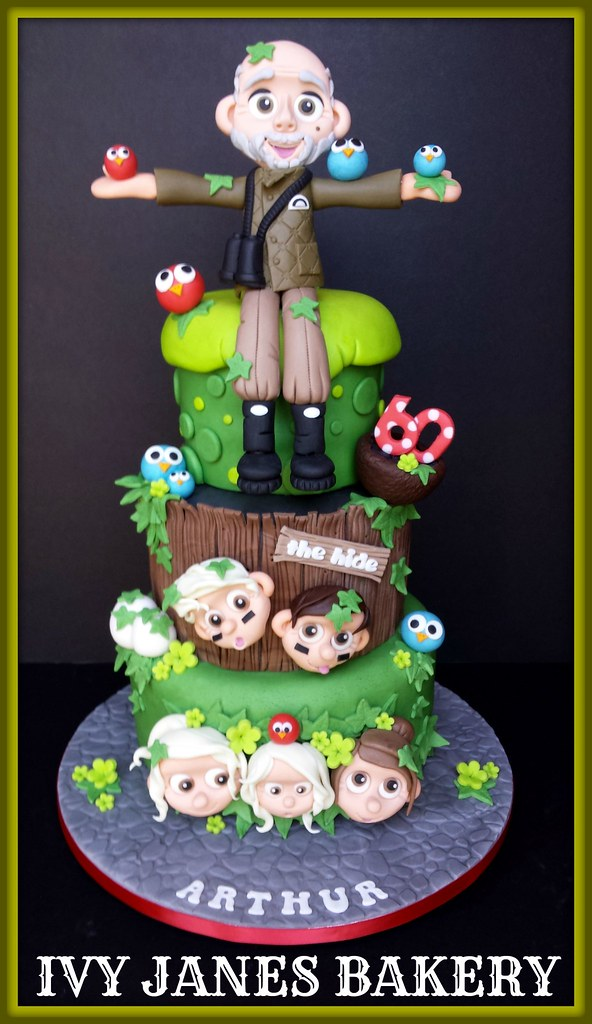 Birdman Birthday Cake
