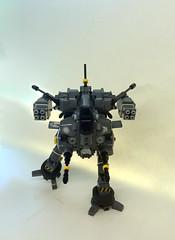 Orbez F2 Low Gravity Mech (front) (SuperHardcoreDave) Tags: lego low flight gravity walker fantasy weapon future scifi mecha mech moc biped
