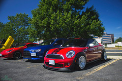 F56 headlights (jeepkid703) Tags: red lights 1 chili wheels running mini s headlights led cooper lip daytime kit avid f56 coupe lowered slammed stance 2014 drl r58