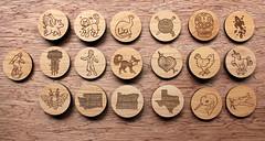 BreadAndBadger2343 (thea superstarr) Tags: seattle wood work handmade pdx custom pnw alder madeinusa lasercut pacficnorthwest laserengraved breadandbadger 6by6arts