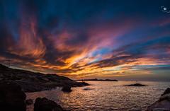 Sunset (OuSsama JB) Tags: sunset sea beach algeria jijel