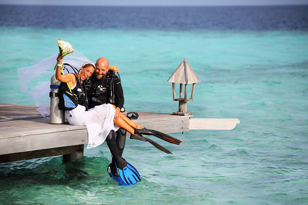 Underwater Wedding Ceremony