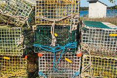 20150915 USA New England 01772 - Copy (R H Kamen) Tags: usa horizontal america outdoors photography trapped fishing day pattern order maine newengland nopeople cage stack backgrounds inarow lobstertraps lobsterpot colorimage largegroupofobjects fishingindustry animalthemes colourimage rhkamen