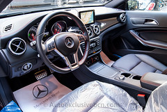 Mercedes-Benz GLA 250 4Matic AMG Exlusivo - 211 c.v - Nordlichviolet Metallic - Piel RED Cut Negra - Interior Carbono