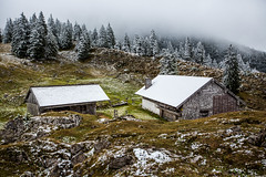(-=AMF=-) Tags: schnee autumn winter mountain mountains berg fog clouds nebel hiking herbst htte wolken hike berge hut alm zwiesel bersteigen