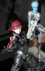 Shepard and Liara (mercenaryveteran) Tags: mass effect shepard n7 liara