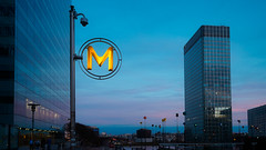 Urban visions 5 (Carlos Pinho Photography) Tags: paris night bluehour ladéfense métroparisien nightparis