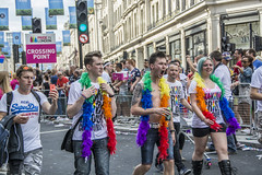London Pride 2015 (Tracey Paper) Tags: gay people colour london love umbrella balloons fun costume rainbow dressup pride regentstreet flags parade lgbt banners 2015