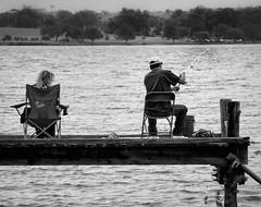 Fishing Instructions (1mpl) Tags: bw monochrome dallas fishing texas whiterocklake canon7d niksilverefexpro