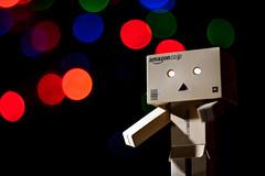Week 46 - Danbo (philipJvernon (www.philipJvernon.co.uk)) Tags: light circle toy lights robot amazon bokeh character board manga meme cardboard card danbo danboard