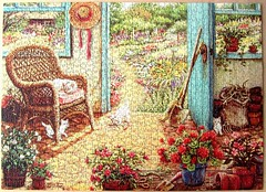 The Potting Shed (Janet Kruskamp) (Leonisha) Tags: cats kittens puzzle katze jigsawpuzzle pottingshed ktzchen