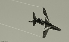 red arrow in black and white _MG_1610 bw (M0JRA) Tags: red jets planes arrows airforce raf scampton
