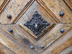 streets of Krakw (kenjet) Tags: street door wood streets geometric metal wooden europe pattern steel poland krakow cracow