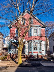 Pink and Blue House ((Jessica)) Tags: boston house pink somerville blue massachusetts