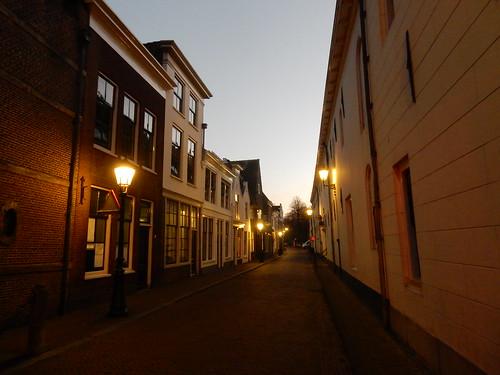 Spieringstraat Gouda at dusk