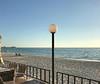 Lido Beach (soniaadammurray - Off) Tags: fence hff beach sea sky light chairs sundown land sarasota florida usa iphone