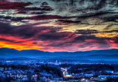 460 Rush Hour Twilight - Roanoke (Terry Aldhizer) Tags: 460 rush hour twilight roanoke virginia valley blue ridge mountains city december sunset dusk terry aldhizer wwwterryaldhizer