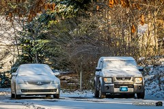Winter Storm - January 7, 2017 (The Suss-Man (Mike)) Tags: cumming forsythcounty georgia nature snow snowday snowingeorgia sonyilca77m2 sussmanimaging thesussman automobile nissanaltima hondaelement