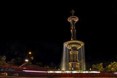 """La Fuente de Castalia.-  -  The Castalia Fountain. (frankolayag) Tags: ninfas frankolaya """"nikonflickraward"""" nikond5300 cascadas españa madrid fuentedejuandevillanueva europa noche calle ciudad agua fuentes luces"""