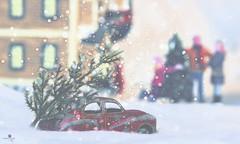 happy holidays (rockinmonique) Tags: holidays christmas tinycar snow winter moniquew canon canont6s tamron copyright2016moniquewphotography