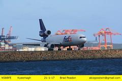 N588FE - Sydney Airport (alcogoodwin) Tags: md11 fedex plane freight aviation bayrunway planes sydney nsw australia botanybay kyeemagh