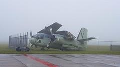 Grumman US-2N Tracker c/n G-720 Netherlands Navy serial 159 (sirgunho) Tags: lelystad aviodrome aviation museum airport dda stichting fokker preserved aircraft aeroplane luchtvaart grumman us2n tracker cn g720 netherlands navy serial 159