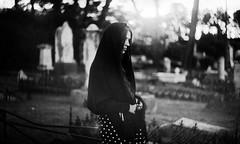 . (Victoria Yarlikova) Tags: monochrome zenit analog film iso100 selfportrait darkroom scan pellicola cemetery grain lonely moody retro vintage 35mm cimitero conceptual weird
