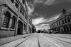 DSC00030 (Damir Govorcin Photography) Tags: rail tracks heritage train sky clouds buildings leading lines composition perspective zeiss 1635mm sony a7rii natural light cars carriageworks sydney