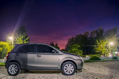 Etios at night (Ruby MV) Tags: toyota car etios longexposure nite rain ray storm