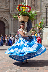 The Wedding Dancer, Oaxaca (Geraint Rowland Photography) Tags: dance dancing dancer event wedding performance mexico oaxaca oaxacacity visitmexico mexicandance mexicanwomen flowers iglesia movement streetphotography geraintrowlandphotography worldtravel latinamericanculture