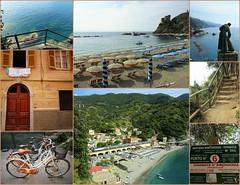 Monterosso (France-♥) Tags: monterosso cinqueterre 5terre italy collage plage velo bike beach village