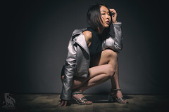 Silver (CJ Schmit) Tags: wwwcjschmitcom 5dmarkiii canon canon5dmarkiii cjschmit cjschmitphotography canonef85mmf18usm photographermilwaukee milwaukeephotographer photographerwisconsin racine racinephotographer dragonspitstudios feichung woman female leatherjacket silverjacket heels studioshoot digibeedb800 buff11 deep throwpocket wizardssquatportraitmodelleathershort hairasiansexynik analog efex 2 caledonia wisconsin