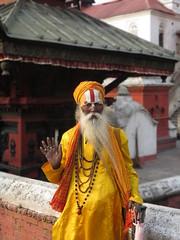 Kathmandu (ozknts) Tags: human yellow region sadu kathmandu