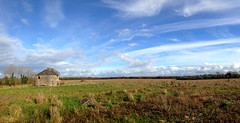 A Winter's day (JulieK (thanks for 8 million views)) Tags: bleakhouse panorama iphone5 2017 one photo each day 2017onephotoeachday clouds bluesky winter wexford ireland irish meadow derelict rural scenic