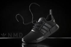 Adidas Boost NMD Triple black. (Andy @ Pang Ket Vui ( shootx2 )) Tags: adidas boost nmd triple black sneaker reflective 3 strips levitation float