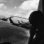 A squadron of United States helicopters in action during the Vietnam War, 1968 thumbnail