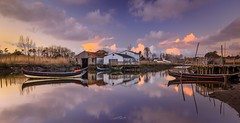 The Boat House, Ria de Aveiro (paulosilva3) Tags: the boat house sunrise sunset water lake clouds sky blue boats canon eos 6d manfrotto lowepro lee filters landscape ria de aveiro portugal