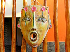 Astonished (knightbefore_99) Tags: mask cool art colour awesome aztec hotel decameron rincon guayabitos mexican mexico nayarit surprise look nice west coast